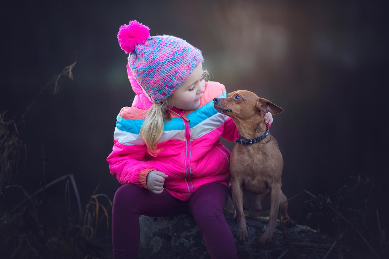 Kind und Hund Shooting